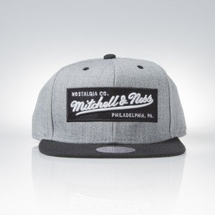 Mitchell & Ness czapka snapback Mitchell and Ness Logo grey heather / black M&N Box Logo NE18Z