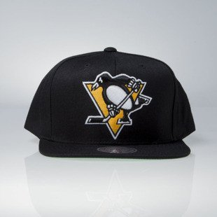 Mitchell & Ness czapka snapback Pittsburgh Penguins black Wool Solid / Solid 2 NT80Z