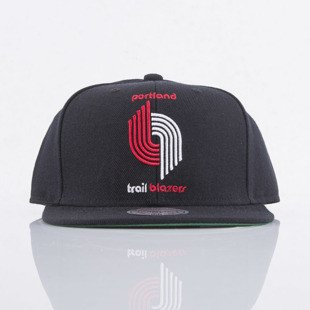 Mitchell & Ness czapka snapback Portland Trailblazers black SOLID CROWN NZ979