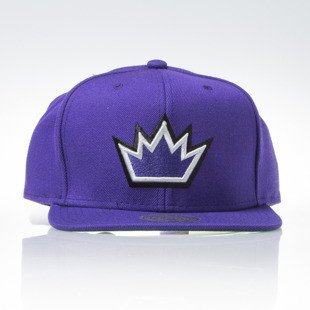 Mitchell & Ness czapka snapback Sacramento Kings purple WOOL SOLID NL15Z