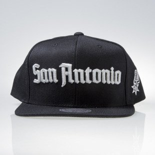 Mitchell & Ness czapka snapback San Antonio Spurs black GOTHAM CITY VW49Z
