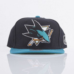 Mitchell & Ness czapka snapback San Jose Sharks black  XL Logo 2Tone NJ27Z