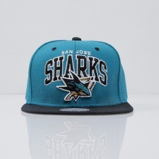 Mitchell & Ness czapka snapback San Jose Sharks turqoise Team Arch ND12Z