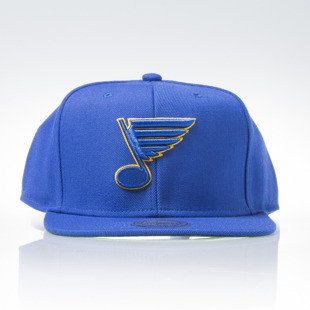 Mitchell & Ness czapka snapback St Louis Blues blue WOOL SOLID NZ980