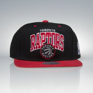 Mitchell & Ness czapka snapback Toronto Raptors black / red  TEAM ARCH NA80Z