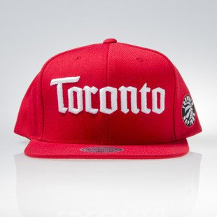 Mitchell & Ness czapka snapback Torronto Raptors red GOTHAM CITY VW49Z