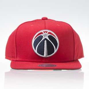Mitchell & Ness czapka snapback Washington Wizards red WOOL SOLID NT78Z