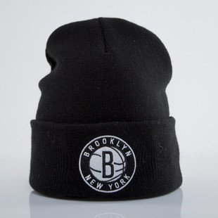 Mitchell & Ness czapka zimowa Brooklyn Nets black Team Logo Cuff EU785