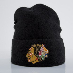 Mitchell & Ness czapka zimowa Chicago Blackhawks black Team Logo Cuff EU785