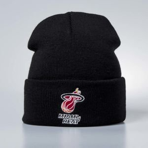 Mitchell & Ness czapka zimowa Miami Heat black Team Logo Cuff