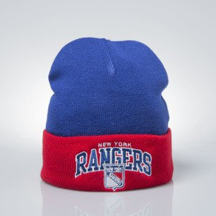 Mitchell & Ness czapka zimowa winter baenie New York Rangers navy / red EU349 ARCHED CUFF KNIT