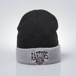 Mitchell & Ness czapka zimowa winter baenie Toronto Raptors black / grey EU349 ARCHED CUFF KNIT