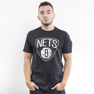 Mitchell & Ness koszulka Brooklyn Nets black Black and White Logo Traditional