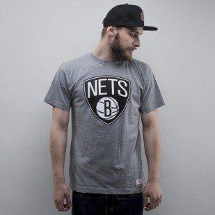 Mitchell & Ness koszulka Brooklyn Nets heather grey Black and White Logo