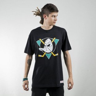 Mitchell & Ness koszulka t-shirt Anaheim Ducks black Team Logo Traditional