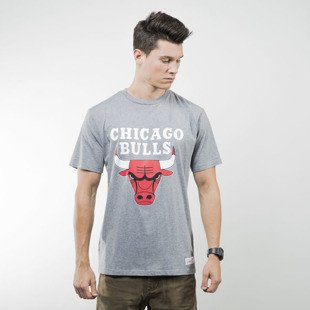 Mitchell & Ness koszulka t-shirt Chicago Bulls grey heather TEAM LOGO Traditional