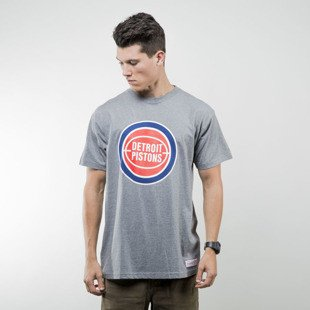 Mitchell & Ness koszulka t-shirt Detroit Pistons grey heather Team Logo Traditional