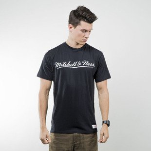 Mitchell & Ness koszulka t-shirt M&N black / white M&N SCRIPT LOGO TAILORED