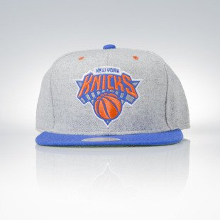 Mitchell & Ness snapback czapka New York Knicks grey heather / royal Melange Flannel EU912