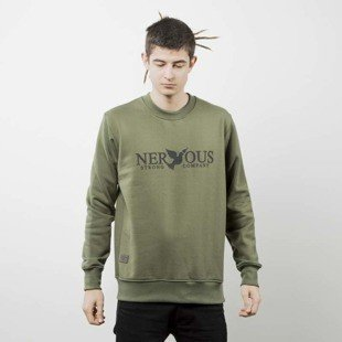Nervous bluza sweatshirt Scratch olive