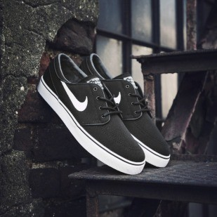 Nike buty Zoom Stefan Janoski CNVS black / white - gum light brown - metallic (615957-028)