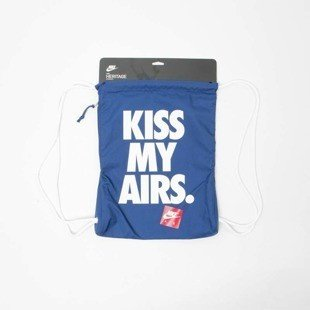Nike worek na plecy Nike Heritage Graphic Kiss My Airs Gymsack royal BA5431-423
