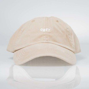 Obey czapka Jumble Bar Hat II 6 Panel sand