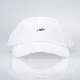 Obey czapka Jumble Bar Hat II 6 Panel white