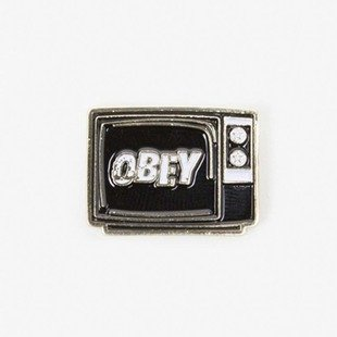 Obey przypinka What To Think Pin black