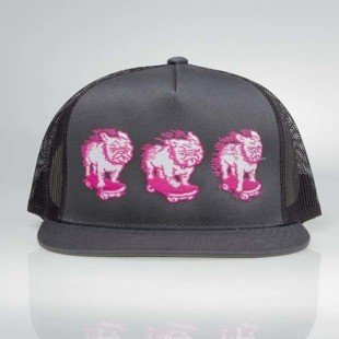 POGO czapka Trucker Bulldog grey