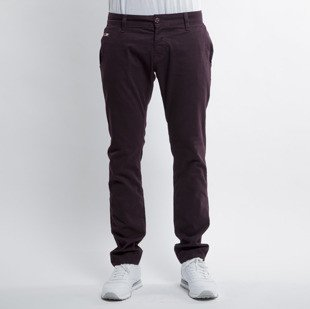 Rush Dnm spodnie Chino Slim Fit burgundy