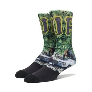 Skarpety HUF Big Cats Crew Socks green
