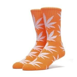 Skarpety HUF Highlighter Plantlife Crew Sock neon orange