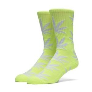 Skarpety HUF Highlighter Plantlife Crew Sock neon yellow