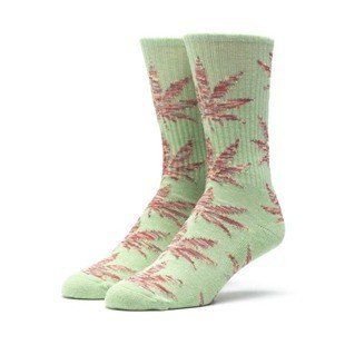 Skarpety HUF Melange Plantlife Crew Sock green heather / mustard