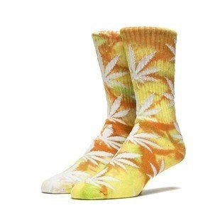 Skarpety HUF Tie Dye Plantlife Crew Sock orange