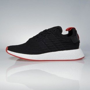 Sneakers buty Adidas Originals NMD_R2 Primeknit core black / core red BA7252
