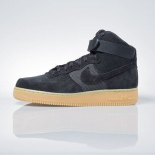Sneakers buty Nike Air Force 1 High '07 LV8 black / black-gum light brown 806403-003