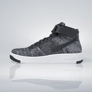 Sneakers buty Nike Air Force 1 Ultra Flyknit Mid black / black-white 817420-004