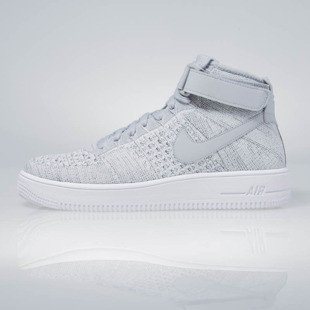Sneakers buty Nike Air Force 1 Ultra Flyknit Mid wolf grey / wolf grey-white 817420-003