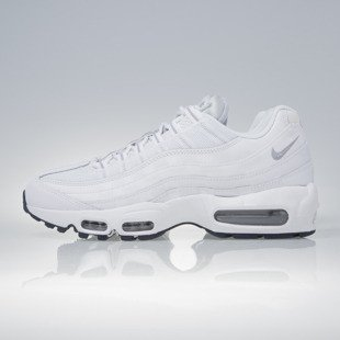 Sneakers buty Nike Air Max 95 Essential white / wolf grey-obsidian (749766-111)