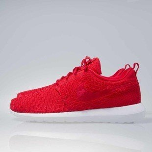 Sneakers buty Nike Roshe Nm Flyknit unvrsty red / unvrsty red-white (677243-603)
