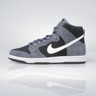 Sneakers buty Nike SB Zoom Dunk High Pro dark grey / white-black-white 854851-010