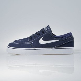 Sneakers buty Nike SB Zoom Stefan Janoski CNVS obsidian / white-gum light brown (615957-414)