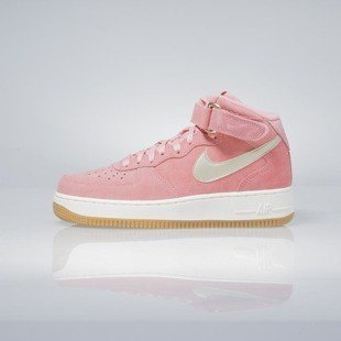 Sneakers buty Nike WMNS Air Force 1 '07 Mid Seasonal bright melon / metalic gold star 818596-800