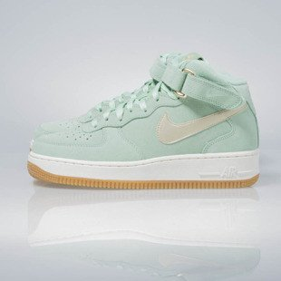 Sneakers buty Nike WMNS Air Force 1 '07 Mid Seasonal enamal green / metalic gold star 818596-300