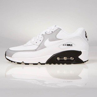 Sneakers buty Nike WMNS Air Max 90 white / white-wolf grey-black 325213-126