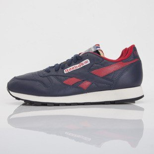 Sneakers buty Reebok CL LTHR navy / red / sandtrap (M41103)