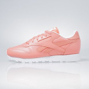 Sneakers buty Reebok Classic CL Leather Seasonal II Women coral / white (AR2805)