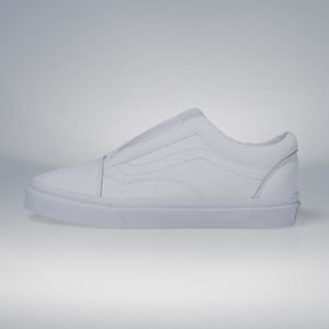 Sneakers buty Vans Old Skool Laceless (Leather) true white VN0A3DPCL3H